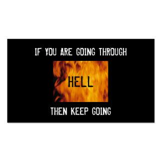 através da igreja do inferno bc cartoes de visita