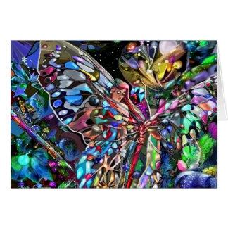Através das asas de uma borboleta cartao