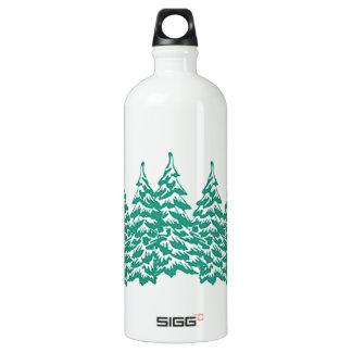 Através das madeiras garrafa d'água de alumínio