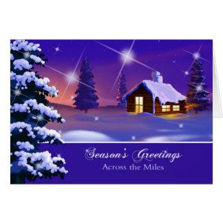 Através das milhas. Cartão de Natal customizável