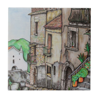 Através de Costarella e de monastério