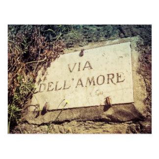 Através do cartão italiano de Dell Amore (rua do