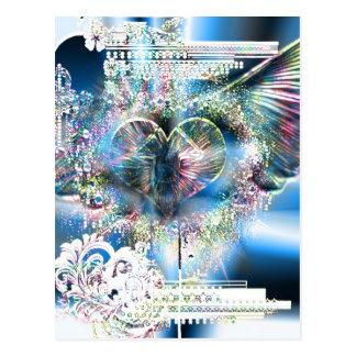 Através do coração (edição 2 do Natal) Cartão Postal