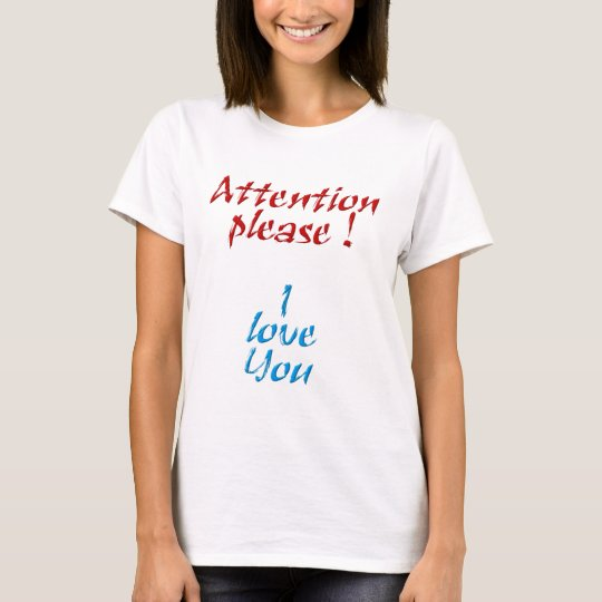 Attention please camiseta