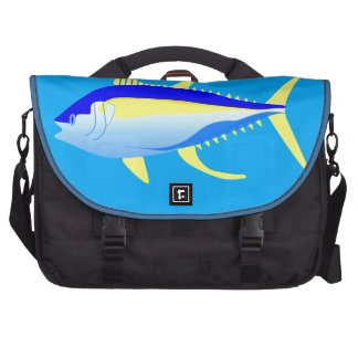 Atum de atum amarelo pasta para laptop