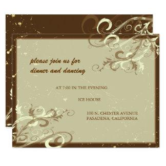 AU LAIT da BAUNILHA SWIRLS/CAFE de PixDezines Convite 10.79 X 13.97cm