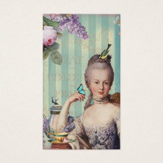 Au pequeno Trianon de Thé no marfim com rosas e Cartão De Visitas