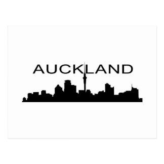 Auckland na silhueta cartão postal