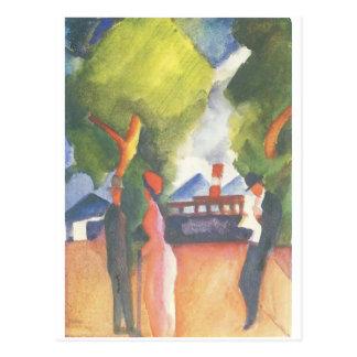 August Macke que pinta o cartão c.1914