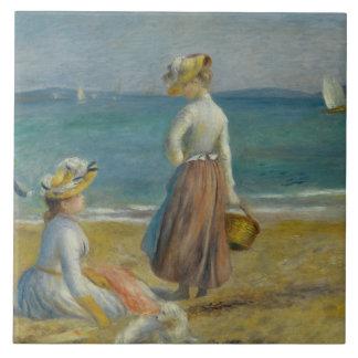 Auguste Renoir - figuras na praia
