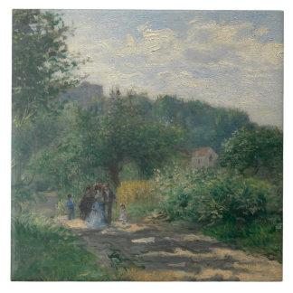 Auguste Renoir - uma estrada em Louveciennes