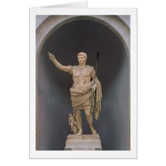 Augustus de Prima Porta, c.20 BC (mármore) Cartão Comemorativo