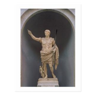 Augustus de Prima Porta, c.20 BC (mármore) Cartão Postal