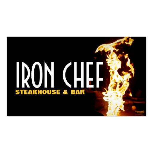 Aulas de culinária do cozinheiro chefe do ferro de cartão de visita