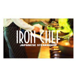 Aulas de culinária do restaurante japonês do cozin cartão de visita