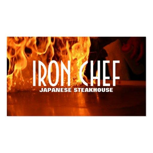Aulas de culinária do restaurante japonês do cozin cartao de visita