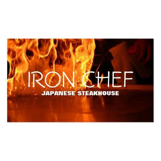 Aulas de culinária do restaurante japonês do cozin cartões de visita