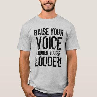 Aumente sua camisa da voz