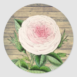 Aumentou a etiqueta rústica floral do vintage no
