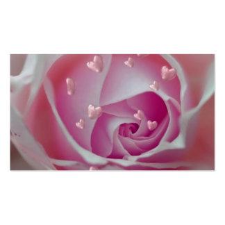 aumentou com rosa dos corações modelos cartão de visita