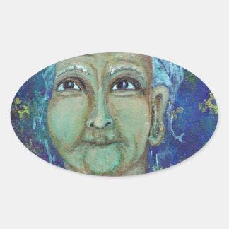 Auntie feminino divino Ebb Adesivo Oval