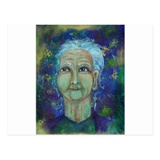 Auntie feminino divino Ebb Cartão Postal