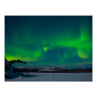 Aurora boreal (borealis da Aurora) Pôster