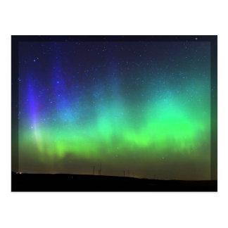 Aurora boreal - cartão preto da beira