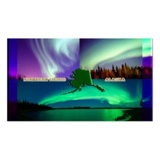Aurora boreal da colagem de Alaska Modelo Cartoes De Visitas