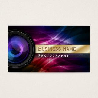 Aurora listrada do ouro do fotógrafo moderna cartão de visitas
