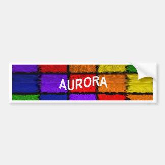 AURORA (nomes fêmeas) Adesivo Para Carro