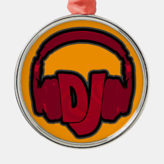 auscultadores do DJ da música Ornamento Redondo Cor Prata