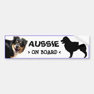 Aussie a bordo da etiqueta adesivo
