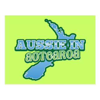 Aussie em Aotearoa (NOVA ZELÂNDIA) Cartão Postal