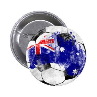 Austrália afligiu o futebol bóton redondo 5.08cm