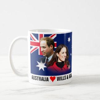Austrália ama a caneca de William & de Kate