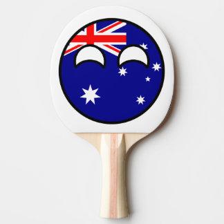 Austrália Countryball Raquete De Pingpong