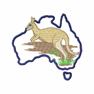Austrália e canguru camiseta bordada polo