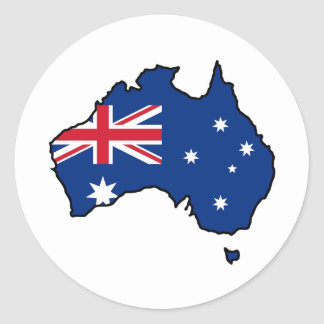 Austrália legal adesivos redondos