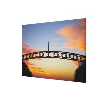 Austrália, Queensland, Gold Coast, nascer do sol, Impressão De Canvas Envolvida