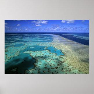 Austrália - Queensland - grande recife de coral. 3 Poster