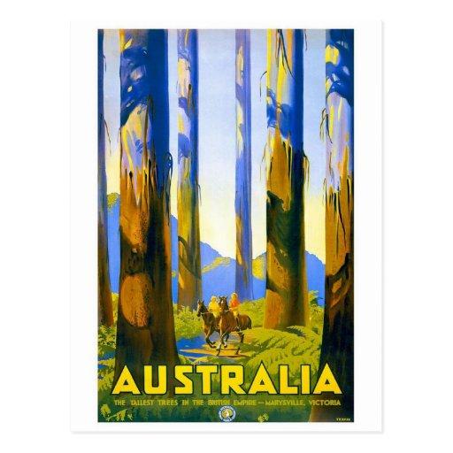 Austrália - viagens vintage cartoes postais