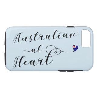 Australiano na capa de telefone do móbil do
