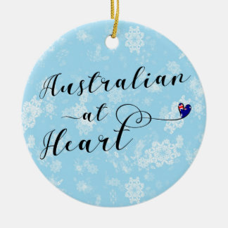 Australiano no coração, ornamento da árvore de