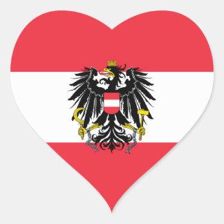 Áustria/bandeira austríaca adesivo coração