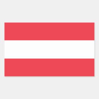 Áustria/bandeira (civil) austríaca adesivo retangular