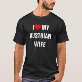 ÁUSTRIA: Eu amo meu t-shirt austríaco da esposa Camiseta