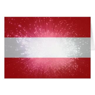Áustria; Österreich Flagge Cartão De Nota