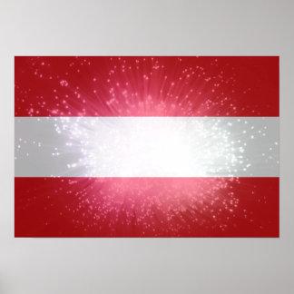 Áustria; Österreich Flagge Poster