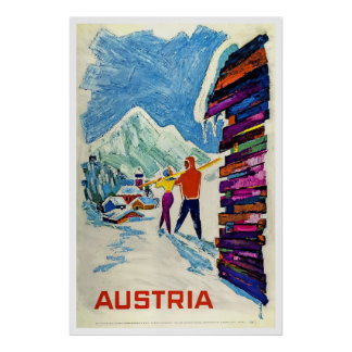 Áustria, poster do esqui